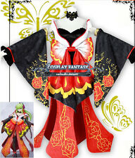 Code Geass R2 Cosplay C.C Costume CC Dress Floral Kimono 10th Anniversary Custom