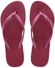 Original Havaianas Slim Crystal Flip Flops - 15 Colours - UK Size 3 4 5 6 7 8