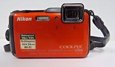 Nikon COOLPIX AW120 Waterproof Digital Camera (Orange)