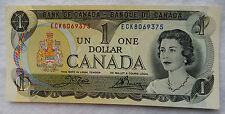 "1973 Canada 1 Dollar Banknote P.85.c ""Crow - Bouey"" Uncirculated SB3901"
