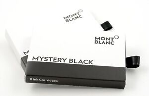 Montblanc Tintenpatronen Schwarz 2 Packungen je 8 Patronen Mystery black new