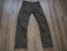 Raramente LEVIS 53 Workwear Cargo Pants w32 l34 America del Nord verde modello extra lunga
