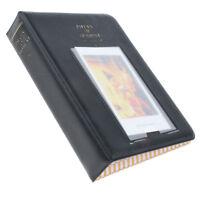 "64 Pockets Album 3"" Photo Case for Fuji Instax Mini 8 7s 25 50 90 Film Black"