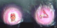 2007 St. Louis Cardinals Pujols Cancer pink 2 - ball set baseball MLB balls