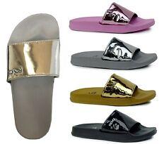New Women Metallic Slide Sandals Flip Flop Platform Footbed Shoes || 1818