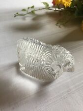 """Waterford Crystal Ram / Sheep - 2.5"""" tall X 3.75"""" Ireland - Signed"""