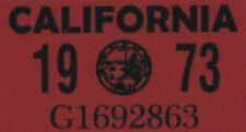 Us Estados Unidos California matrícula license plate number plate año aufkläber 1973