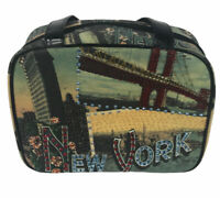 """Paradox New York Cosmetic Purse Travel Bag Compartments 11""""X8"""""""