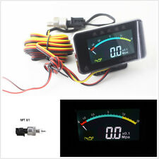 12/24V Car Truck Digital LED Displayer Oil Pressure Gauge  NPT8/1 (10mm) Sensor