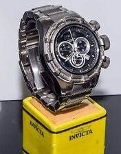 Invicta 1444 Reserve Bolt Swiss Made Quartz Stainless Steel Black Dial Wristwatc