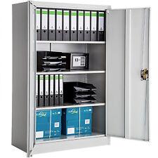 Armoire de bureau metallique meuble de rangement armoire-fichier 140x90x40cm