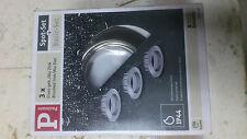 Paulmann Einbauleuchten-Set Quality Line Halogen 3 x 51 mm Eisen gebürstet