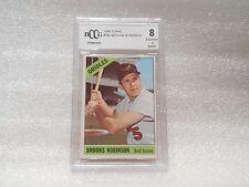 Brooks Robinson GRADED CARD!! Beckett BCCG 8!! 1966 Topps #390 Orioles  -2825
