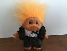 """Vintage 1986 DAM Troll with Orange Hair - Groom in Wedding Suit 5"""""""