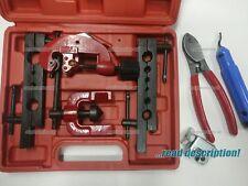 Flaring Tool Kit Brake Pipe Repair Tool Set Tube Cutter deburring tool