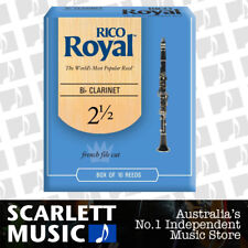 Rico Royal Bb Clarinet Reed 10 Pack Reeds Size 2.5 ( 2 1/2  Two Half ) 10PK