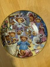"""Franklin Mint Collectible Teddy Bear plate """"Egg-citement Easter"""" Exc Condition!"""