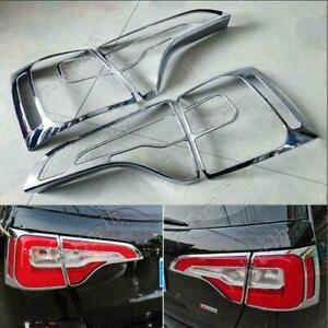 4pcs ABS Chrome Rear Tail Light Lamp Cover Frame Trim For Kia Sorento 2014-2015