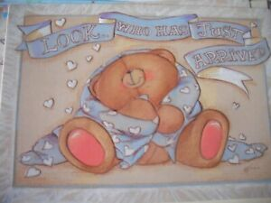 Look Who Has Just Arrived a NEW BABY BOY (Bear) Forever Friends Card