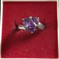 Old 925er Silver Ring with Purple Stones