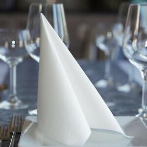 800 Servietten Stoffähnlich weiß /weiss Airlaid 40 x 40 cm Taufe Hochzeit Dinner