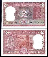 INDIA 2 RUPEES P 53A/d UNC W/H
