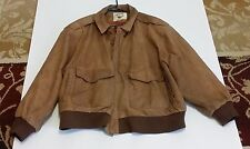 Global Identity GIII  Brown Leather Jacket 22/24 RN 54163 (Medium ?)