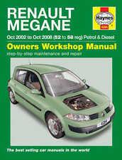 RENAULT Megane Riparazione Manuale Haynes WORKSHOP MANUALE DI SERVIZIO 2002-2008 4284