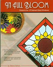 In Full Bloom Stained Glass Pattern Book, Shasta Daisy, Orchid, Gerber Daisies,.