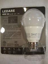 Ikea Ledare 400 lm 6.3 W 120V 60 Hz E26 Light Bulb 40 watt LED1221G7 LED New