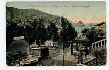 Band Stand & Mountain Railway—Santa Catalina CA Concert Program Sign 1910s