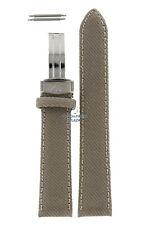 Watch Band AR0620 Emporio Armani beige canvas leather strap 20mm