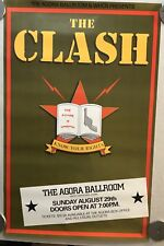 The Clash Poster, Original Vint, Combat Rock, Know Your Rights, CT, Rolled 21x33
