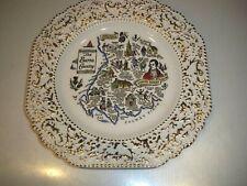 Vintage Collector Plate Robert Burns Scotland Poet By Britannia Designs 8 1/2