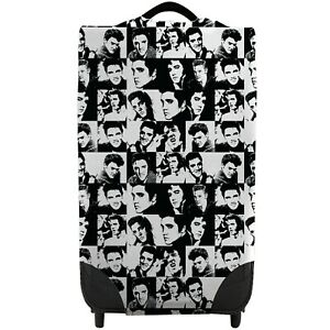 Elvis Black & White Checked Caseskinz SUITCASE Cover SUITCASE NOT INCLUDED