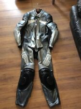 Richa motorbike leathers all in one suit full racing protection black silver