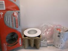 "Lithonia Lighting 4"" White Glass Shower Recessed Kit"