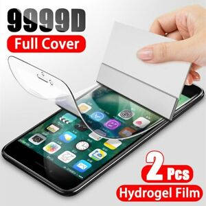2Ps Hydrogel Screen Protector For iPhone 11 12 Pro XR XS Max Full Cover Film 7 8