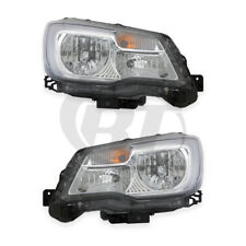 Halogen Headlights Front Lamps for 17-18 Subaru Forester Left & Right Pair Set (Fits: Subaru)