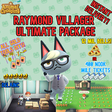 Animal Crossing New Horizons Raymond Villager + 12MIL or 400 NMTs + GOLD DIYS!