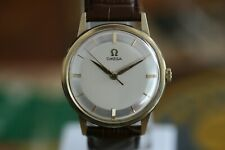 Omega Jubilee 14k. Gold men`s Cal. 285 Two Tone Pie Pan Dial Vintage 1960