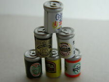 (M3.26) DOLLS HOUSE X 6 MINI TIN BEER CANS