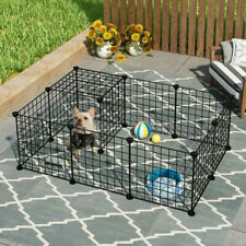 More details for 12 panels pet fence playpen puppy dog cat animal cage metal outdoor indoor home