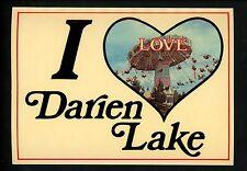 Modern Greetings postcard I Love Darien Lake, New York NY Ride Amusement Park