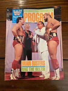 WWF WRESTLING PROGRAM MAGAZINE #172 Brain Busters Bag The Belts