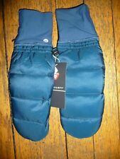 Lululemon PINNACLE WARMTH MITTENS SZ XS/S NIGHT DIVER NWT