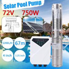 4 Dc Solar Water Pump 750w 1hp Submersible Mppt Controller Deep Bore Well