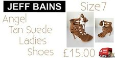 Ladies Shoes Angel Tan Suede Ladies Heeled Shoes Size7 Jeff Bains New