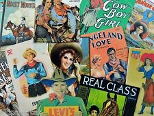 12 Vintage WESTERN COWGIRL ADS & ROMANCE DIE CUTS for CRAFTING | M14 | Free Ship