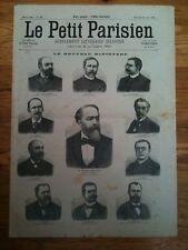Le petit parisien 10/7/1898  Le nouveau Ministère